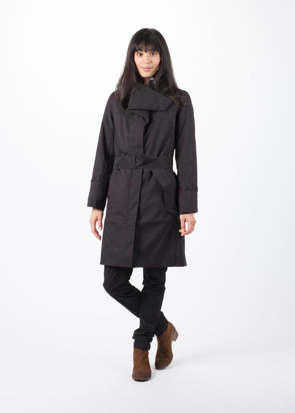 Norwegian Rain Noir Femme Arctic Coat