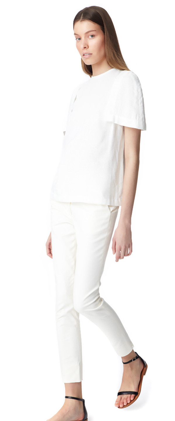 Apiece Apart CAMILLA HIGH WAISTED PANT - CHINA WHITE