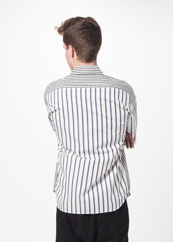 Men's Sage de Cret Stripe Button Up
