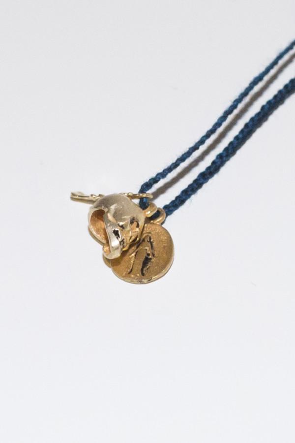 Cooperative de Creation Skull Cross Necklace