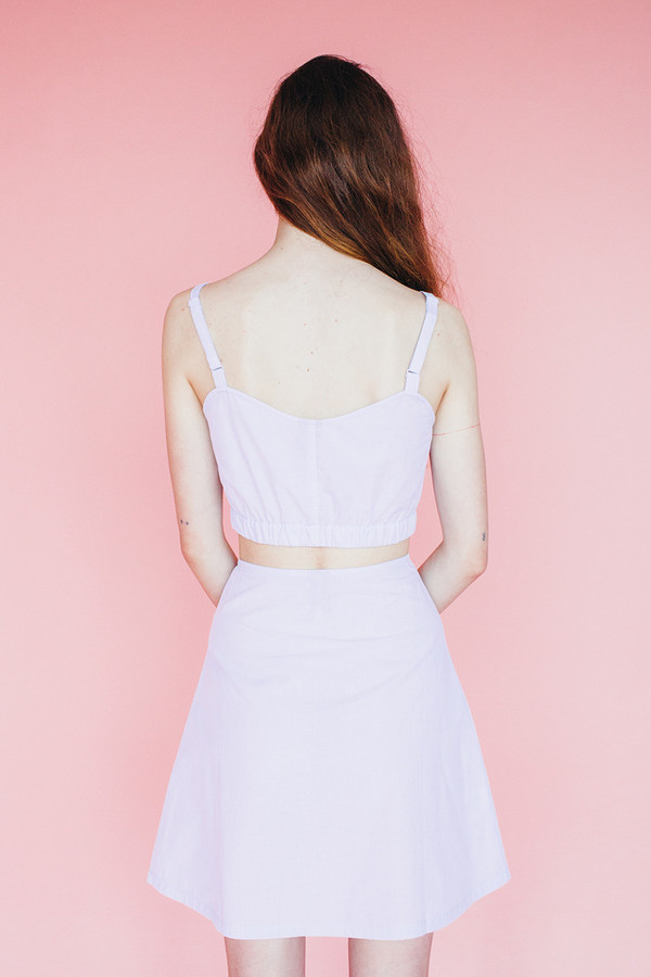 Halfmoon skirt - lavender