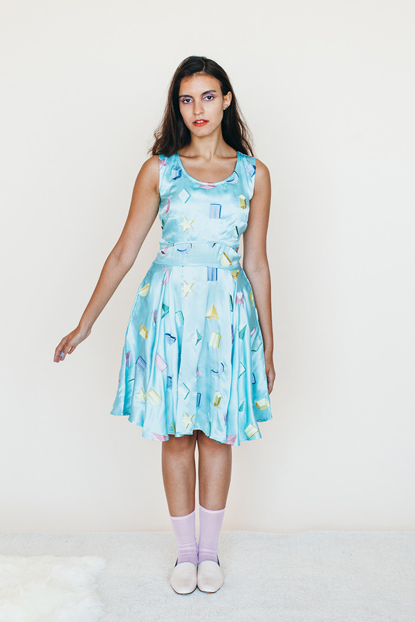 Strata Dress - Sky