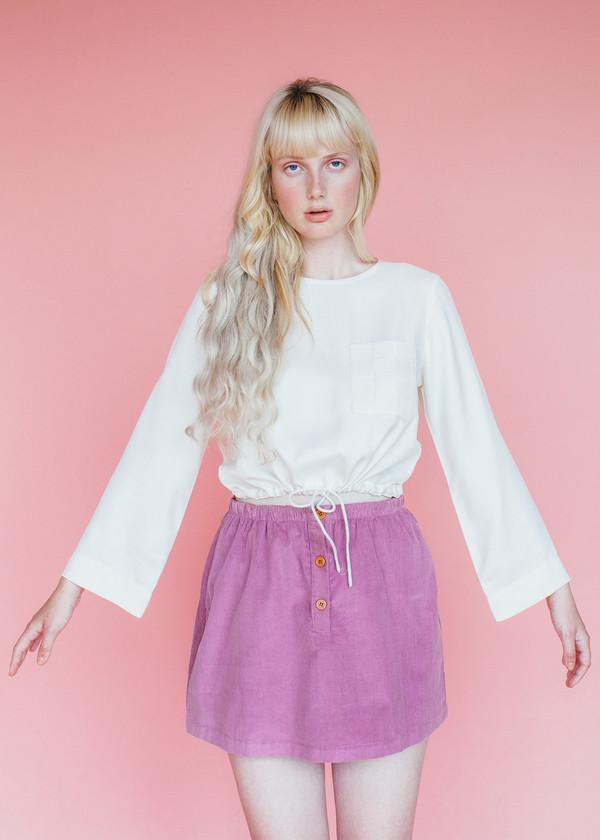 Samantha Pleet Basket Blouse - Ivory