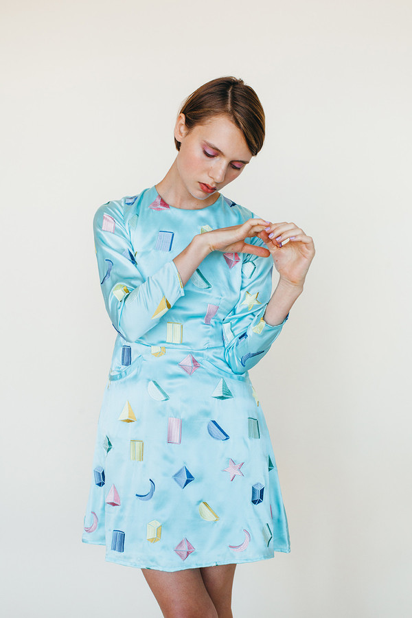 Samantha Pleet Galactic Dress - Sky