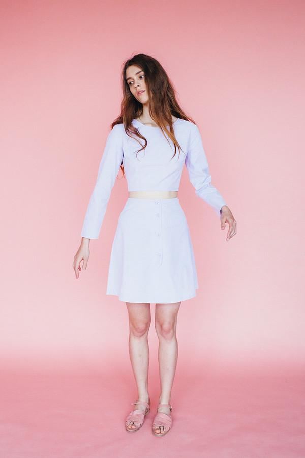 Samantha Pleet Pearl blouse - lavendar