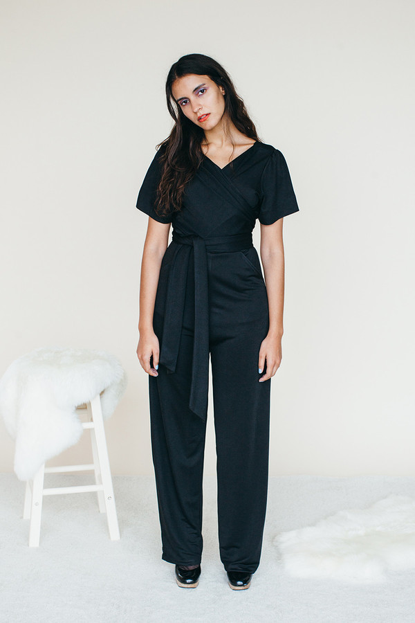 Samantha Pleet Vortex Jumpsuit - Black