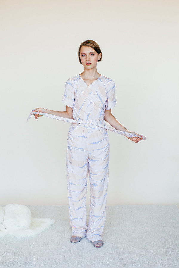 Samantha Pleet Vortex Jumpsuit - Landscape Print