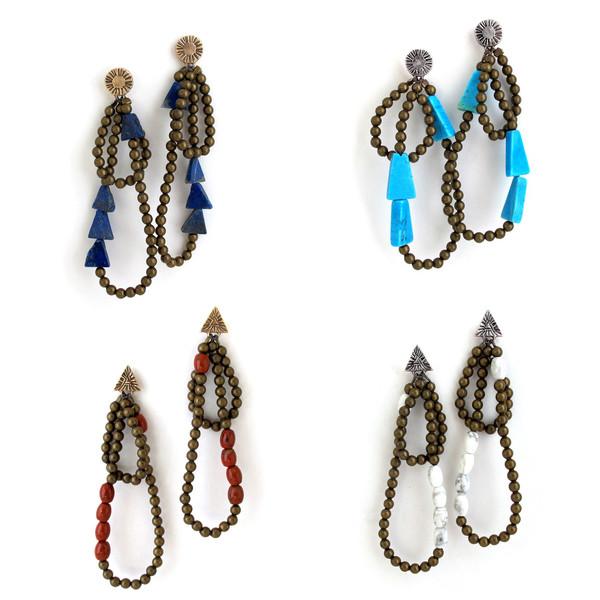 Laurel Hill White Howlite Cairn Earrings
