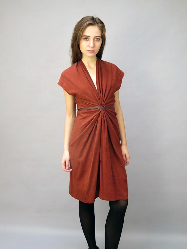 MIRANDA BENNETT STUDIO Tempest Dress Rust