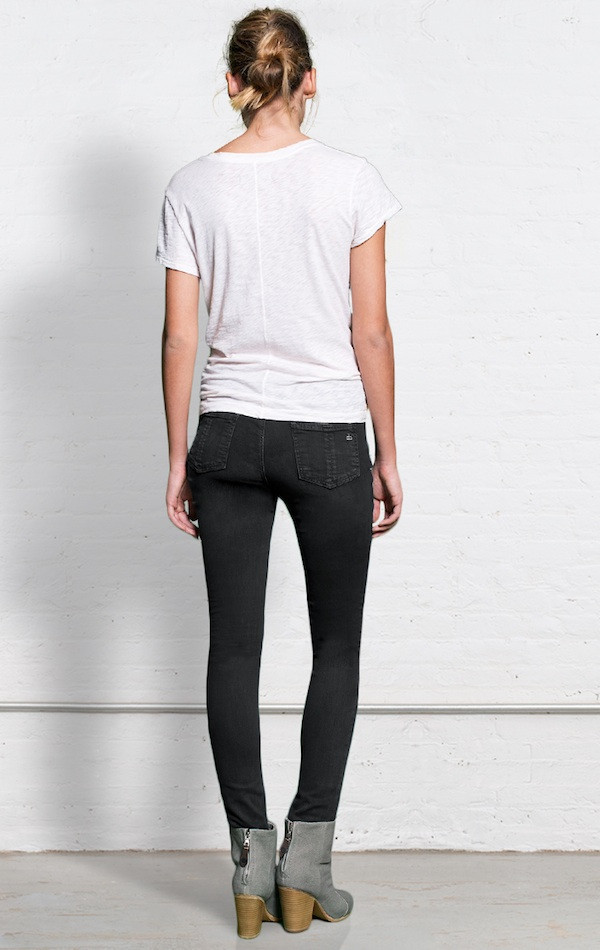 Rag & Bone Skinny Distressed Jeans
