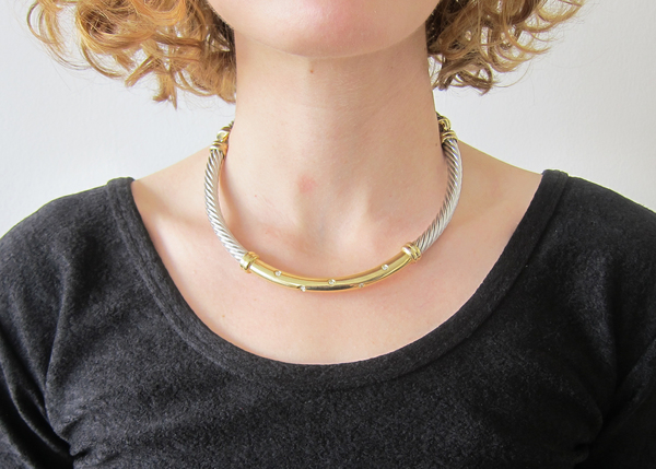 Vintage Collection Metal Rope Necklace