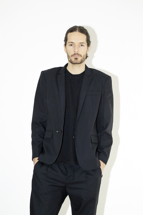 Men's Assembly Black Cotton Suit Jacket