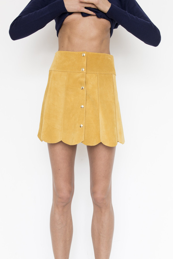Stoned Immaculate Suede Marsha Skirt