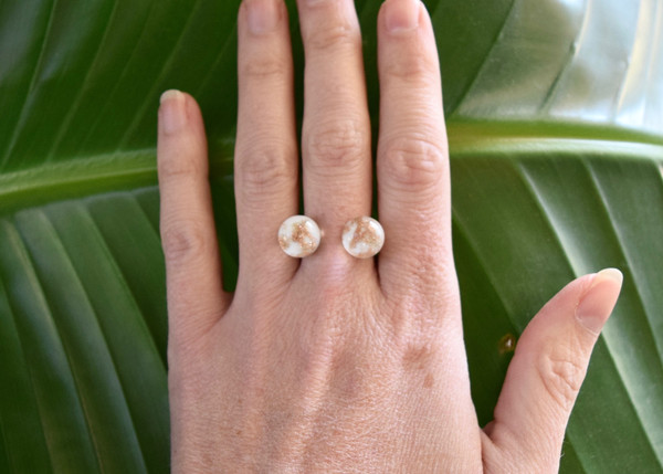 Piece A Conviction: White Aventurine Glass Ring