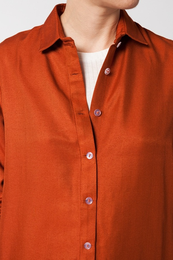 Kaarem Breeze Button Down - regale red orange