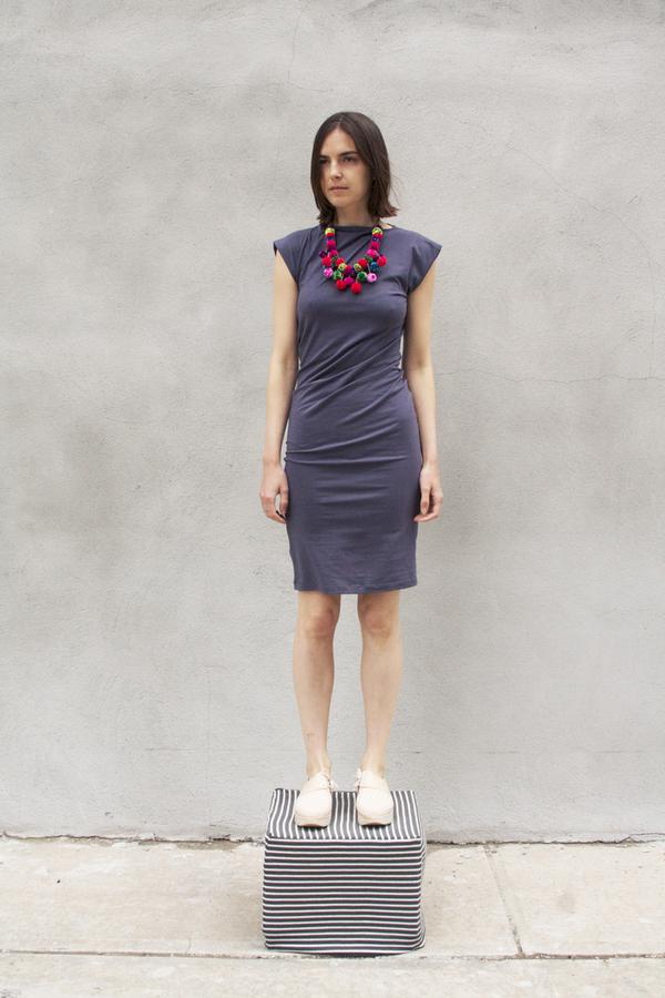 Study NY TWIST DRESS in PEWTER