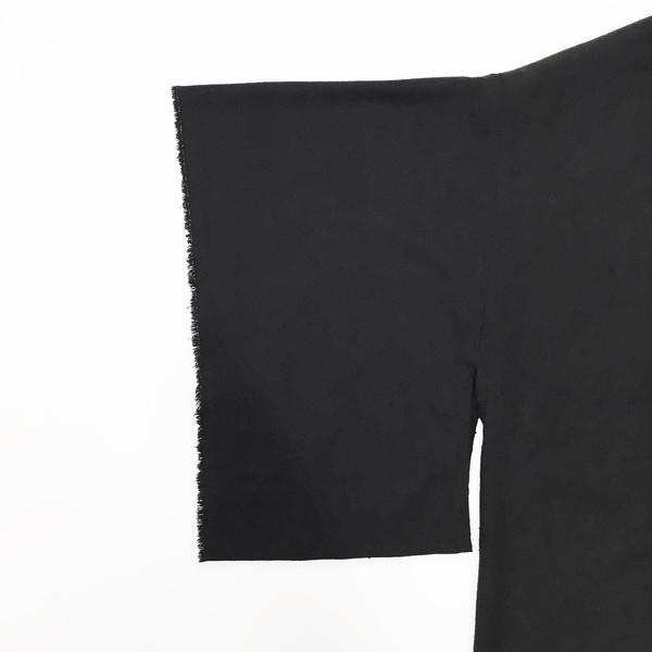 Laurs Kemp Black Raw Silk Kimono