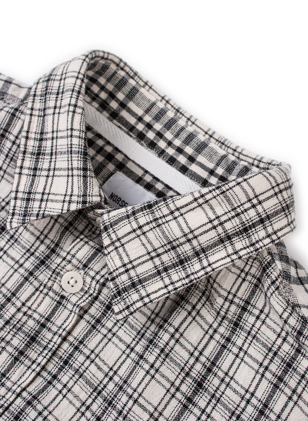 Norse Projects Anton Cotton Linen Check SS Ecru