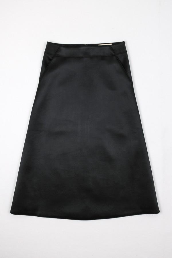Nanushka Madu Bonded Satin A-Line Skirt