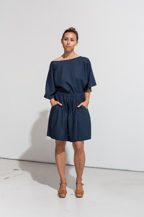 Nahanni Arntzen denis skirt- midnight linen