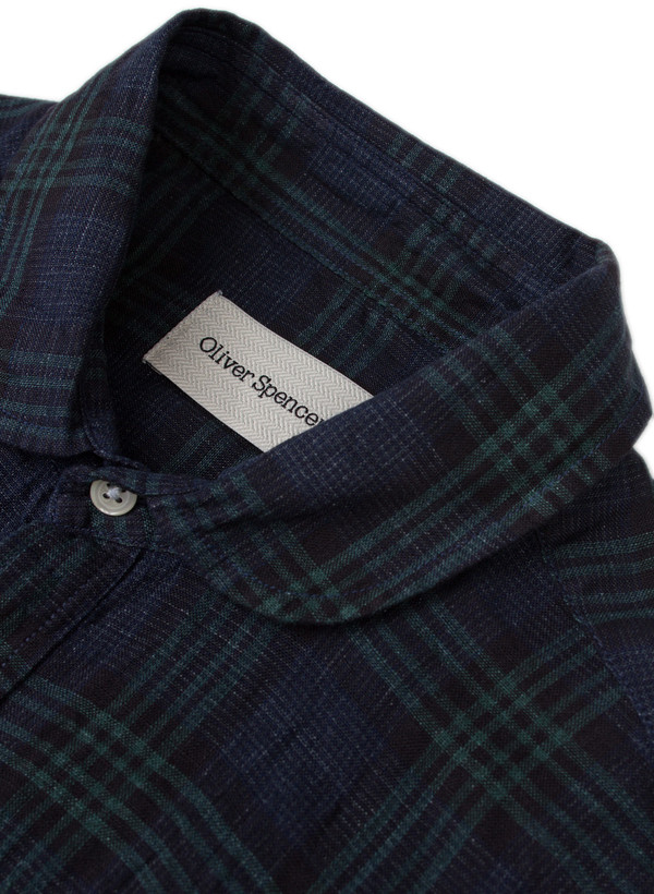 Men's Oliver Spencer Eton Collar Shirt Levant Indigo