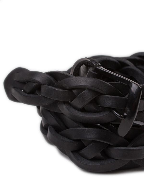 Men's Oliver Spencer Rope Belt Black