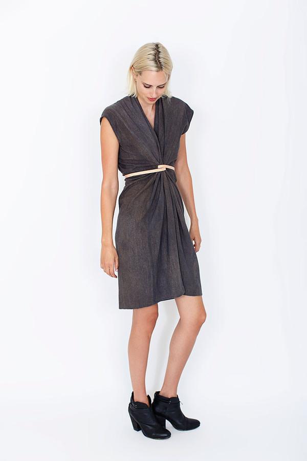 MIRANDA BENNETT STUDIO Tempest Dress | Coal