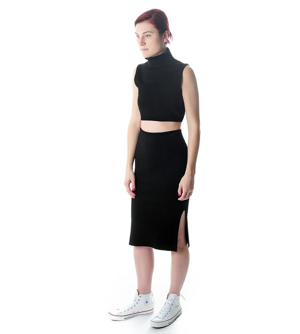 Ganni Black Francis Skirt