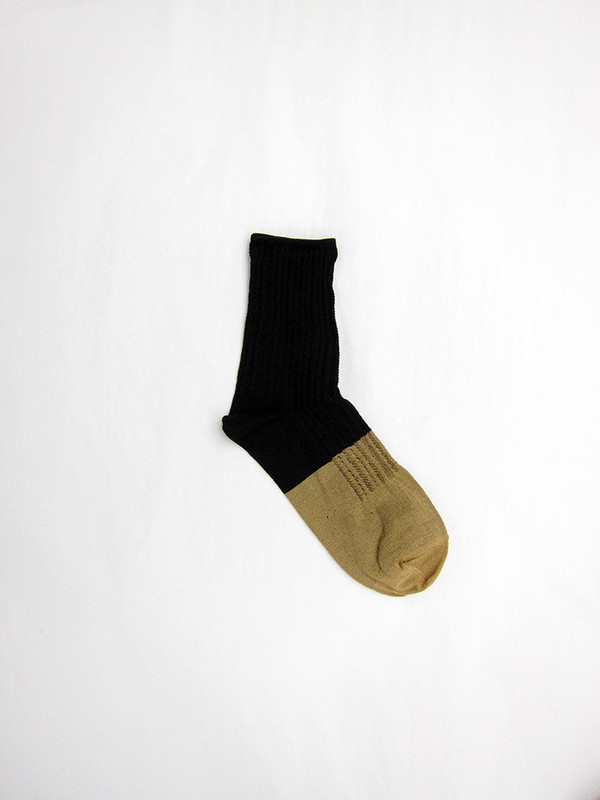 BLESS Garp Socks, Black/Beige