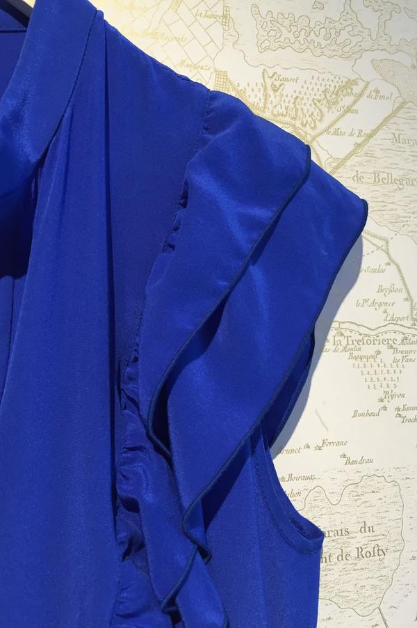 Cacharel Silk V-neck flutter dress