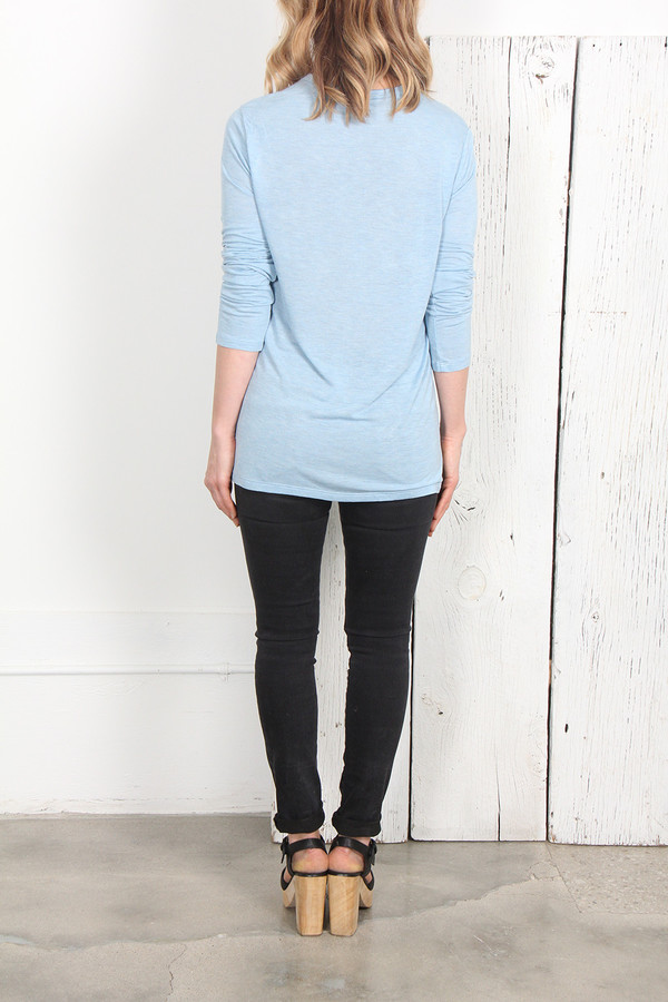 T By Alexander Wang CLASSIC LONG SLEEVE TEE - SKY