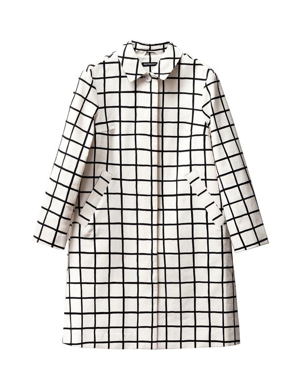 Marimekko Grid Print Coat