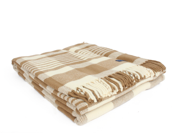 Faribault 1920 Check Wool Throw