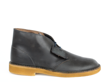 Men's Clarks Desert Boot Midnight Leather