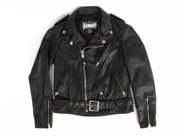 Schott Women's Vintaged Cowhide Motorcycle Jacket
