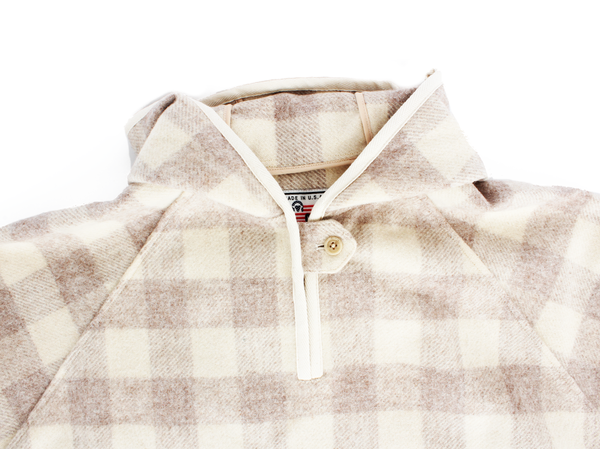 Wool Popover Hooded Poncho
