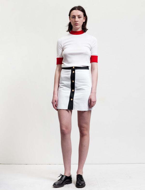 Etienne Deroeux Womens Leona Denim Skirt