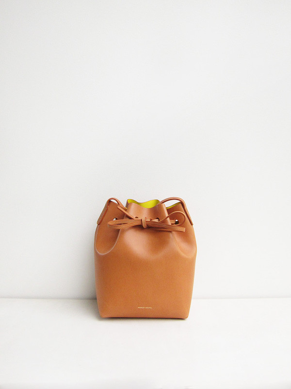Mansur Gavriel Mini Bucket Bag, Cammello/Sun