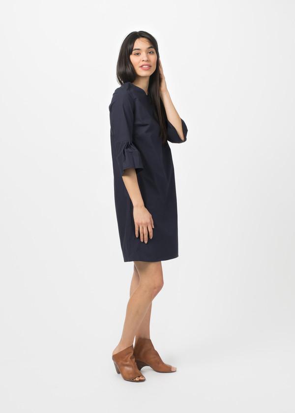 Cotton Zip-Back Dress