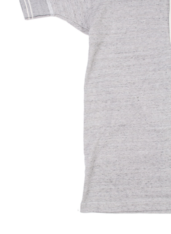 Men's Homespun Standard Short Sleeve Henley Grey