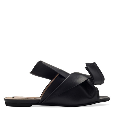 No. 21 Leather slip on bow sandal