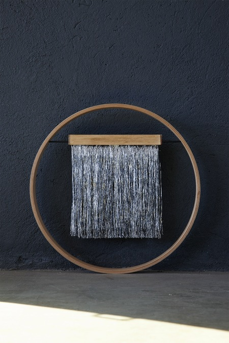 Julie Thevenot SMALL SIXZERO  DARK SILVER WALL HANGING