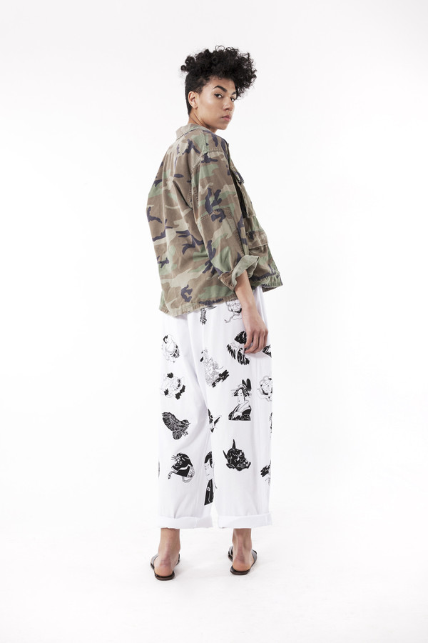 Ikumi Tattoo Long Pants (White)
