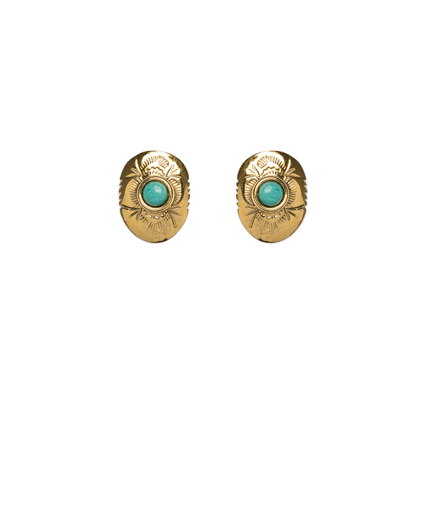Lizzie Fortunato Woody Creek Studs in Gold