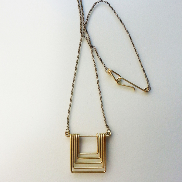 Hellbent Small Square Fade Necklace
