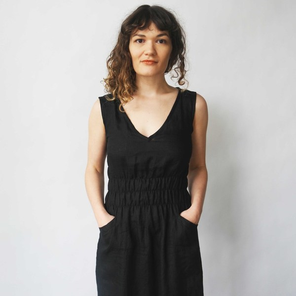 Modaspia Fiji Dress in Black Linen