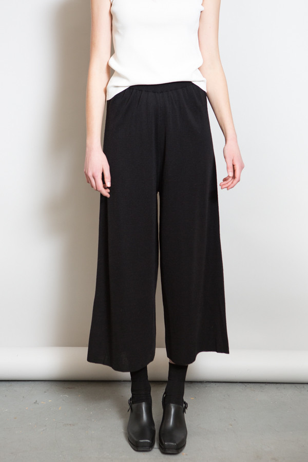 Achro Ribbed Waist Knit Pants / Black
