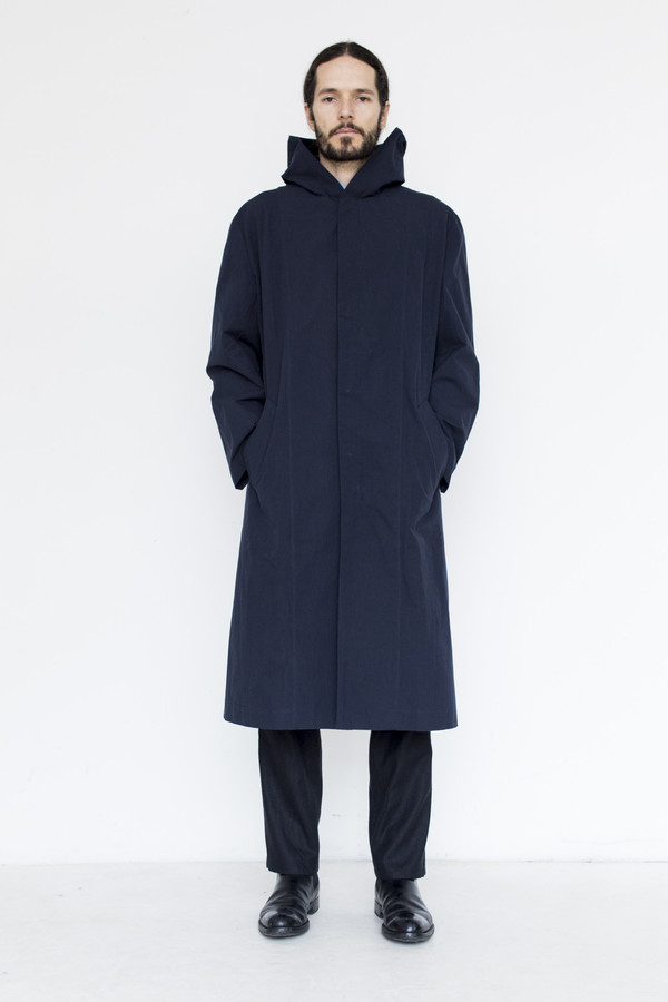 Men's Assembly Cotton Hoodcoat - Navy