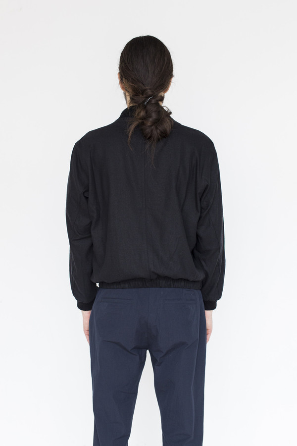 Men's Assembly Raw Silk Zip Bomber