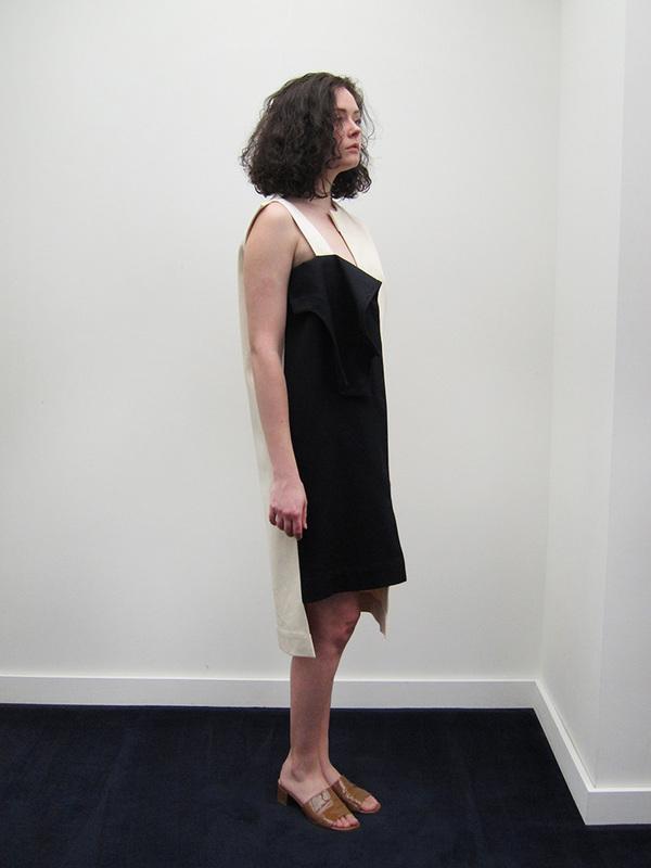 Nancy Stella Soto Offset Denim Front Flap Dress